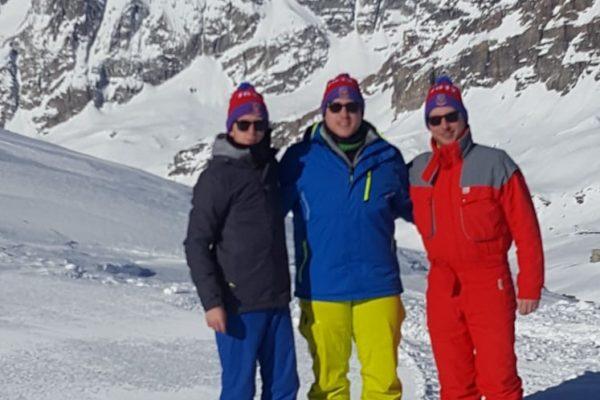 Max, Tim u. Vmann am Matterhorn